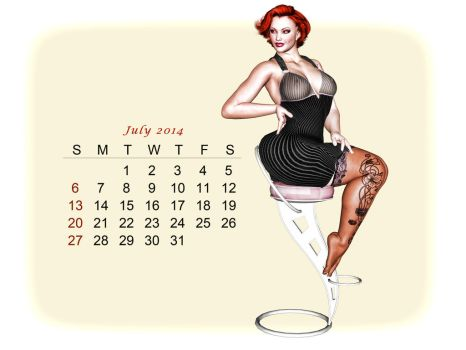 Pinup Number Twenty-Nine: Calendar Girl (July) by wcpelon