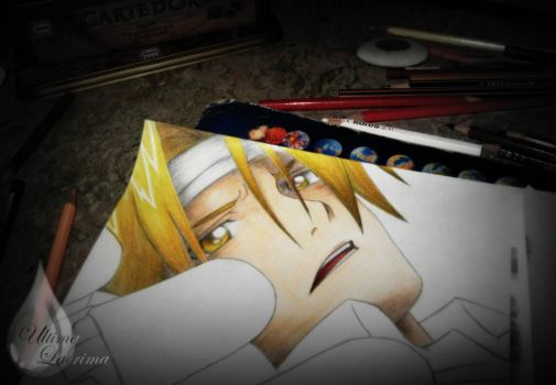 Edward Elric - - - while drawing... by cheetah1990
