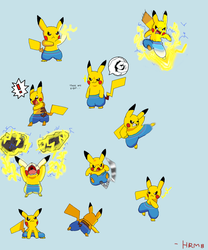 Pikachus wearing under armour by HotRodMario8