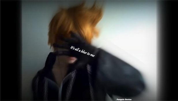 Roxas: It's all a blur by penguin-genius