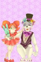 Fnaf Sister Location Baby And Fun Time Purple Fred by mikymichelle