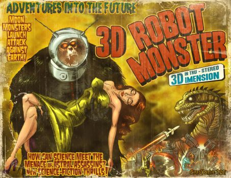 3D Robot Monster by ChadGrimm