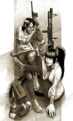 Cherry and Anita by robotnicc