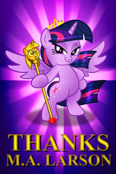 THANKS M.A. LARSON by AleximusPrime