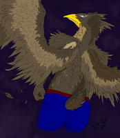 Furry aguila by nicowtc