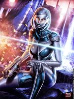 EDI: UNSHACKLED A.I. - Mass Effect 3 by Eddy-Shinjuku
