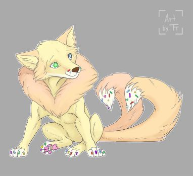 Gingerbread the kitsune. by Tora-Tikel