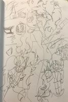 .:Warm-up Doodle Page:. by SleepyStaceyArt