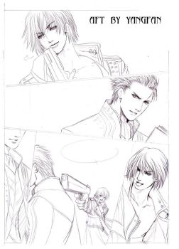 draft page ---DMC3 doujinshi by jiuge