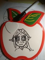 Young Link on mini-whiteboard by AncientArrow