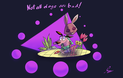 Courage And Bunny1 by DerpyTots