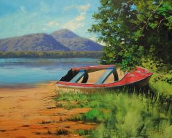 Patonga_creek_painting by artsaus