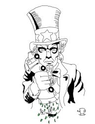Uncle Sam TShirt Design by wicked-hatter