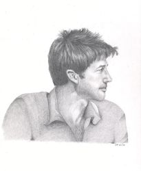DRAWING 1 - Joe Flanigan by le-mot-art
