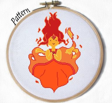 Flame Princess Cross stitch pattern by JuliefooDesigns