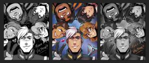 FORM VOLTRON team print by zillabean