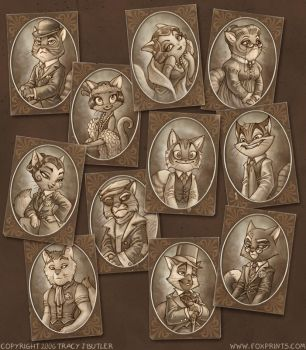 Lackadaisy Portraits by tracyjb