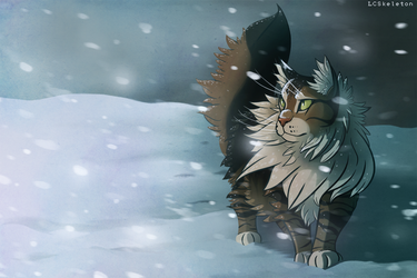 Winter Forest Cat by Lightcall-Skeleton