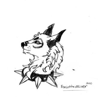 Animal Jam | Arctic wolf with a spike ( sketch ) by Thefoxinthemirror