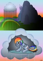 How rain is made in Equestria by Skunkiss