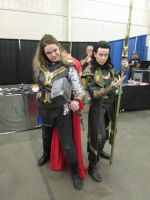 Thor and Loki cosplay by videogameking613