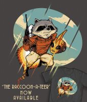 The Raccoon-a-Teer by ninjaink