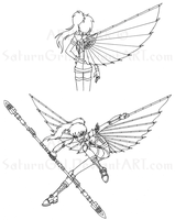 SH: Soara's Battle Glider by SaturnGrl