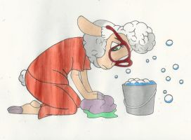Scrubbing the Floors by Disneycow82