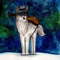 Winter Wolfie (December 2014) by Vokabre