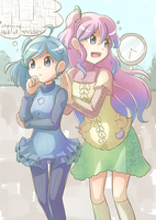 AT: Miu and Yuki by wallmask3