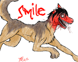 Smiley Smile.Dog by RoomsInTheWalls