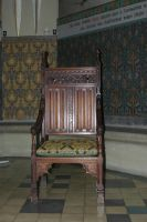 Medieval chair by almudena-stock