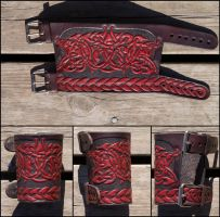 Hounds of Annwn wristband by Wodenswolf