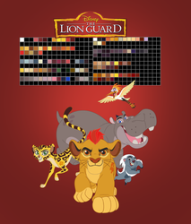 The Lion Guard Color Swatches 2.0 by KashimusPrime