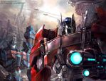 War of the Cybertron - Transformers Prime version by GoddessMechanic