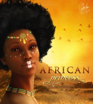 African-Princess by andrewgentles