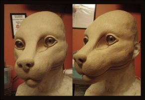 Medium feline Base sculpt by KandorinCreations