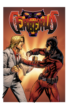 Cerberus #1 colored cover by MercyInk87