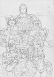 Marvel - DC Big 6 by guygar79