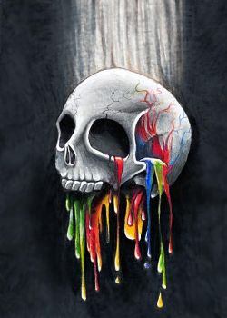 Colorful skull by Ronny-F