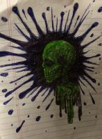 Skull Spattered  by swiftcross