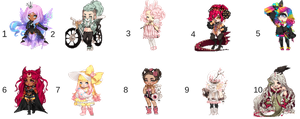 Cute Gals Ota Open Gaia adopts by Mikailgirl1