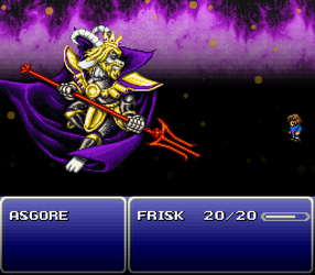 Asgore Final Fantasy VI Mockup by Dracula9AntiChapel