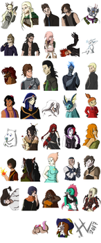 Collage Of Characters Who I Love by Herainia