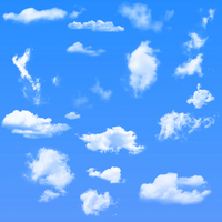 16 Cloud Brushes For Photoshop by darkdissolution