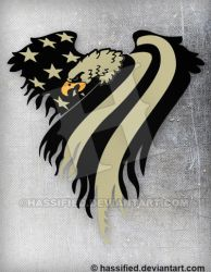 Covert American Eagle Flag by hassified
