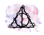 Watercolor Deathly Hallows by VisualPoems