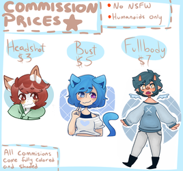 Commission Prices by WickedTsune