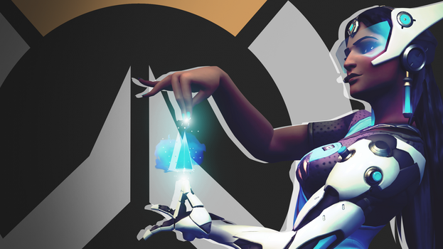 Overwatch Side Profile Wallpaper - Symmetra by PT-Desu