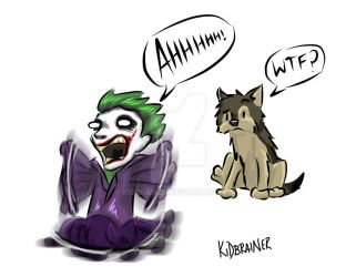 The Joker is Afraid of Wolves by kidbrainer